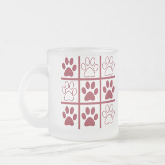Tic TAC Dog Frosted Glass Coffee Mug