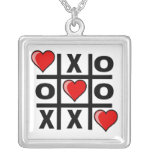Tic Tac Love Square Pendant Necklace