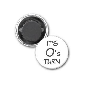 "Tic Tac Toe 1-1/4"" Fridge Magnet ~ O's Turn"