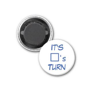 Tic Tac Toe 1-1 4 Fridge Magnet Square s Turn