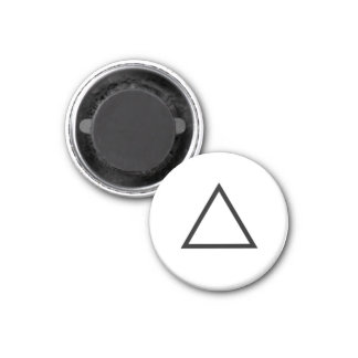 "Tic Tac Toe 1-1/4"" Fridge Magnet ""Triangle"""