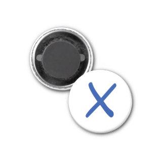 Tic Tac Toe 1-1 4 Fridge Magnet X