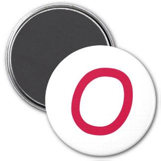"Tic Tac Toe 2-1/4"" Fridge Magnet ""O"""