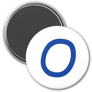 Tic Tac Toe 2-1 4 Fridge Magnet O
