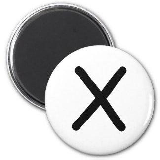 """Tic Tac Toe 2-1/4"""" Fridge Magnet """"X"""""""