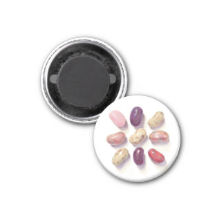 "Tic Tac Toe Beans 1.25"" Round Magnet"