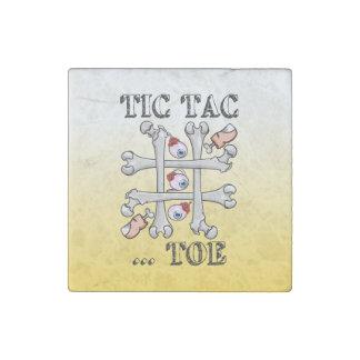 Tic Tac Toe Eyeballs And Toes Stone Magnet