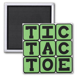 Tic-Tac-Toe, Game of X's and O's Refrigerator Magnet