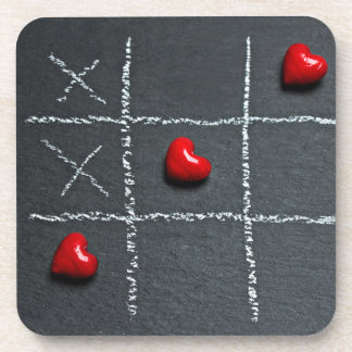 Tic Tac Toe Love Coaster