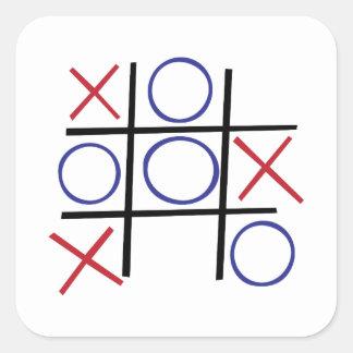Tic Tac Toe Square Sticker