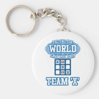 "Tic Tac Toe World Championship - Team ""X"" Basic Round Button Key Ring"