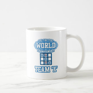"Tic Tac Toe World Championship - Team ""X"" Basic White Mug"