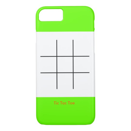 Tic Tac Toee iPhone 7 Case