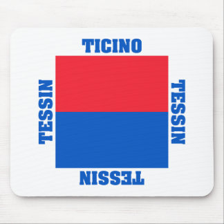Ticino Switzerland Canton Flag Mouse Mat