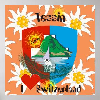 Ticino Switzerland Suisse Svizzera Svizra poster