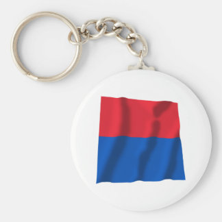 Ticino Waving Flag Basic Round Button Key Ring