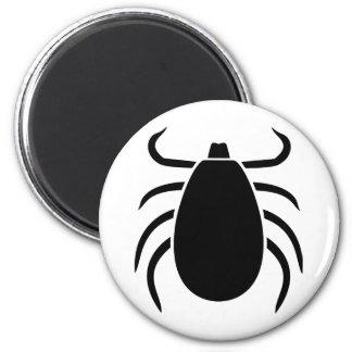 Tick 6 Cm Round Magnet