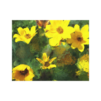 Tick-seed Sunflowers Painting Canvas Print