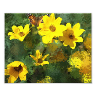 Tick-seed Sunflowers Painting Photo Print