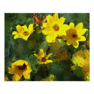 Tick-seed Sunflowers Painting Posters