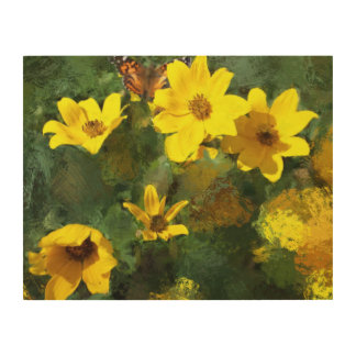Tick-seed Sunflowers Painting Wood Canvases