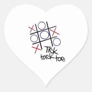 Tick Tack Toe Heart Stickers
