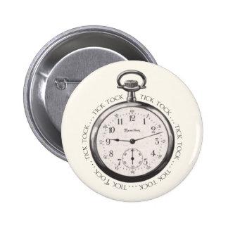 Tick Tock Pinback Button