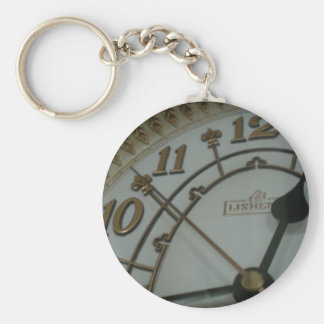 Tick Tock Basic Round Button Key Ring
