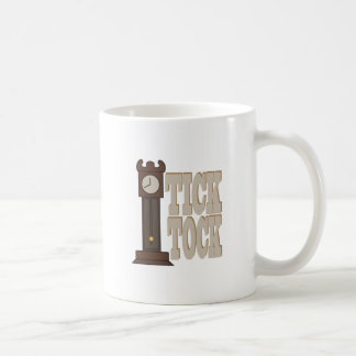 Tick Tock Clock Basic White Mug