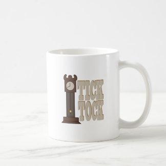 Tick Tock Clock Basic White Mug