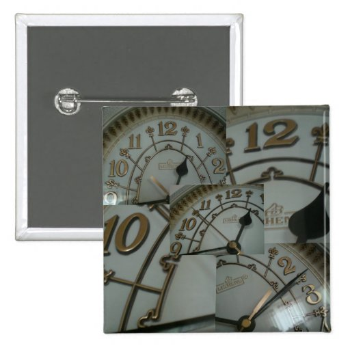 Tick tock Collection Pinback Button