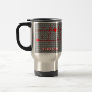 Tick tock for you stainless steel travel mug