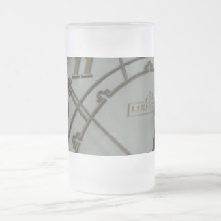 Tick Tock Frosted Glass Mug