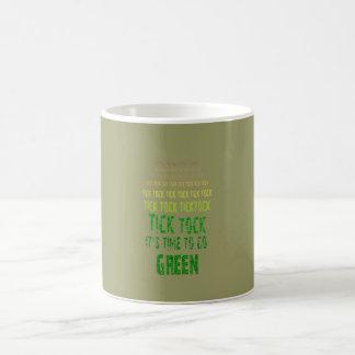 Tick Tock: It's Time to Go Green Basic White Mug