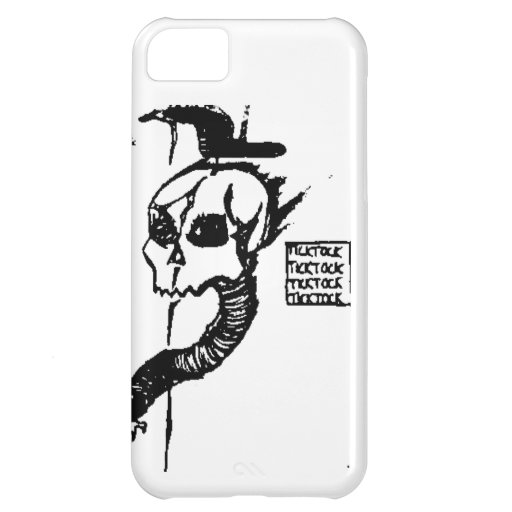 Tick Tock Skull iPhone 5C Case