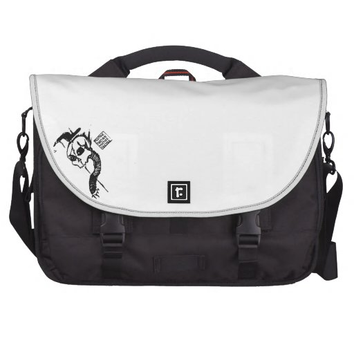 Tick Tock Skull Laptop Bag