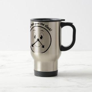 Tick Tock Stainless Steel Travel Mug