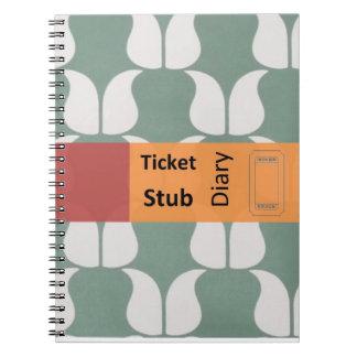 ticket stub diary notebook