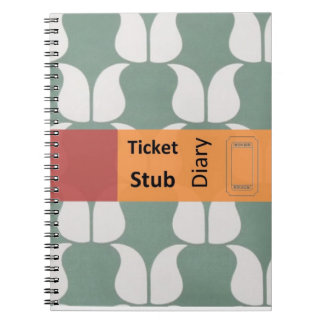 ticket stub diary spiral notebook