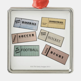 Ticket Stubs Christmas Ornament