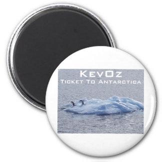Ticket To Antarctica, by KevOz 6 Cm Round Magnet