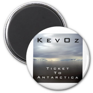 Ticket To Antarctica, by KevOz Refrigerator Magnets
