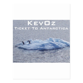 Ticket To Antarctica, by KevOz Postcard