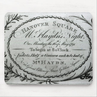 Ticket to 'Mr. Haydn's Night' in Hanover Mouse Mat