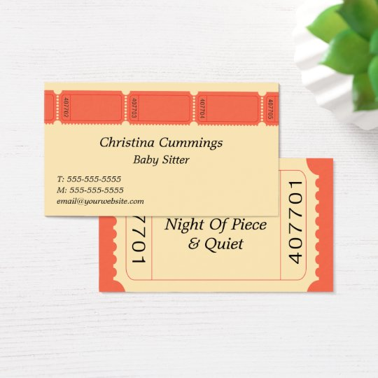 Tickets Business Card