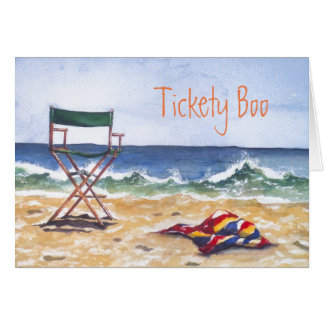 """""""Tickety Boo"""" Greeting Card & envelope"""