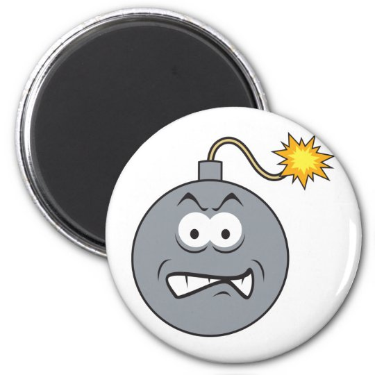 Ticking Bomb Smiley Face Magnet