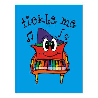 Tickle Me Piano Postcard