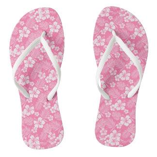 Tickle Me Pink Hawaiian Flip Flops