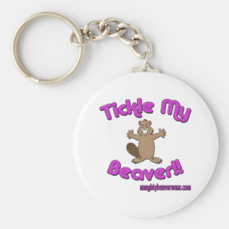 Tickle My Beaver Key Ring